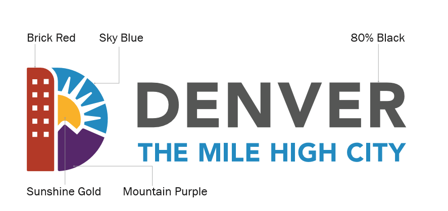 Image of Denver Logo with color diagrams