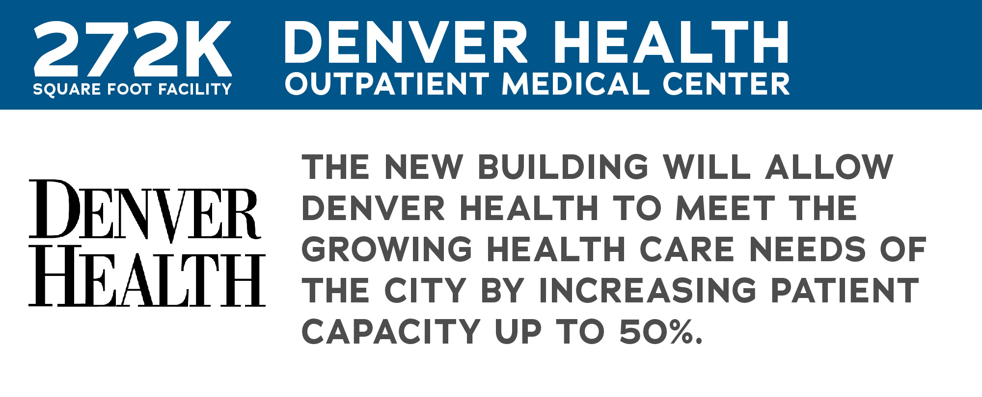 image showing denver health logo and information about denver health projects