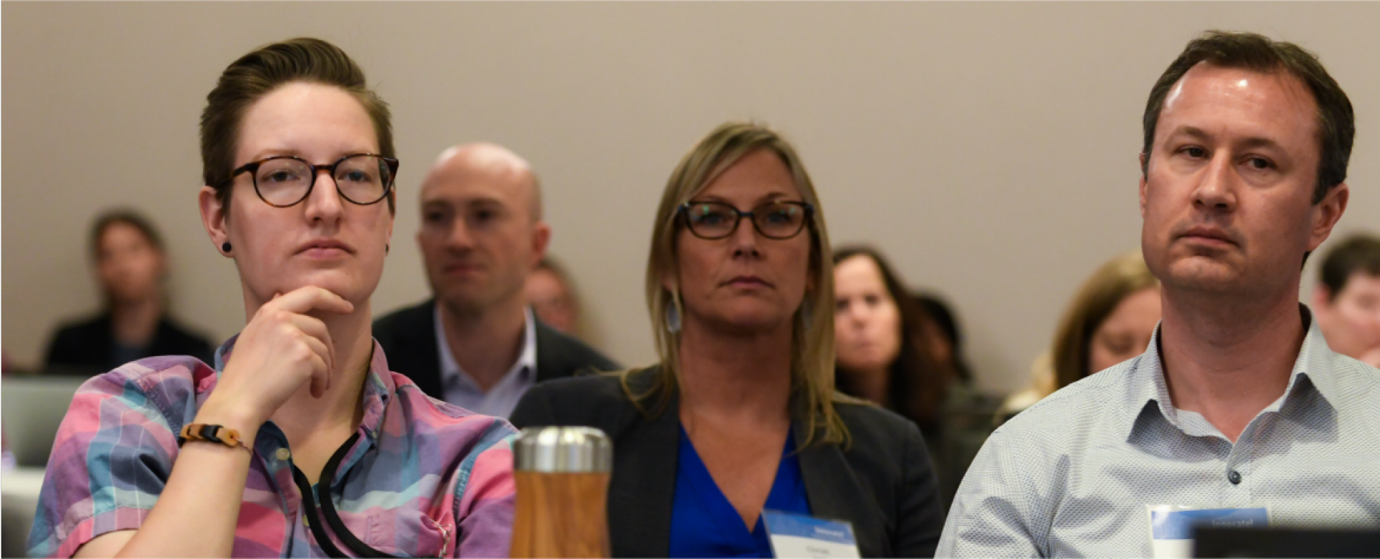 Attendees listening intently at one of the 2019 Denver Housing Forum sessions