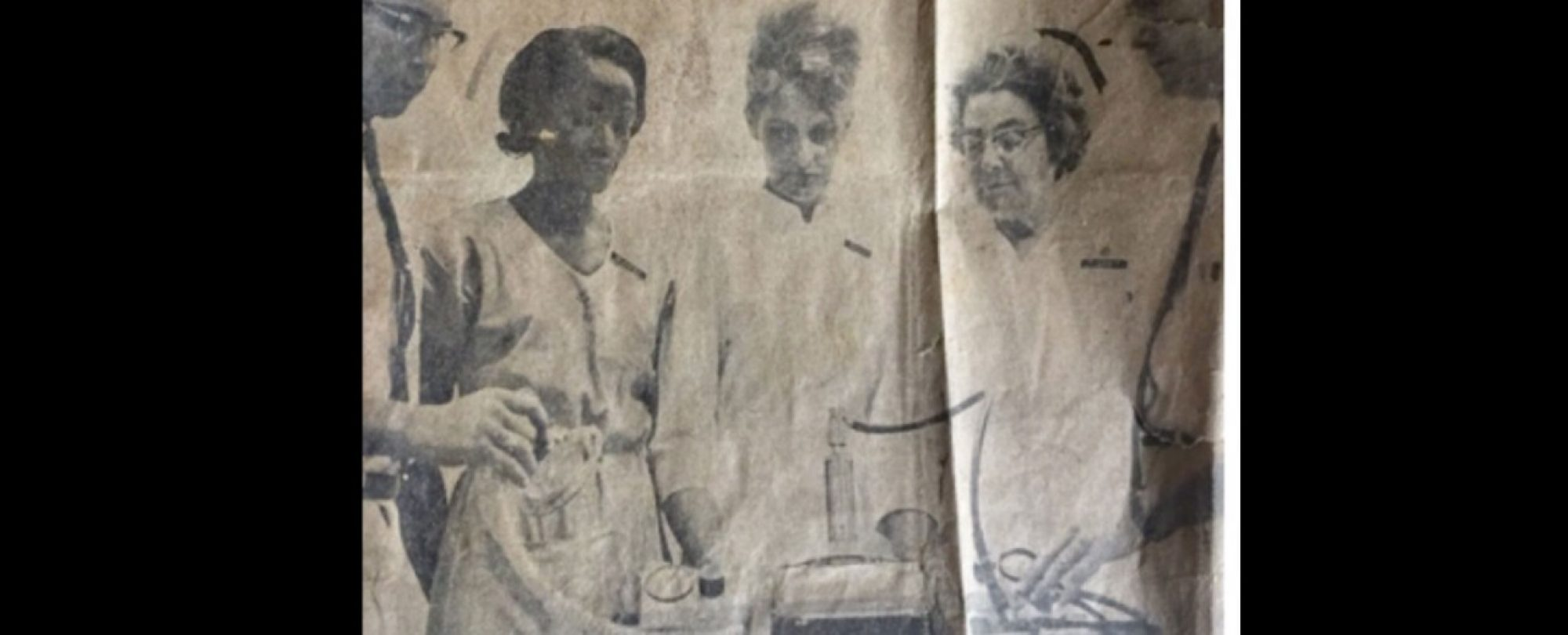 Miss Edna with three colleagues