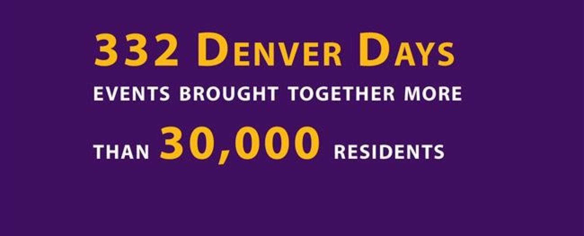 332 Denver Days events brought together more than 30,000 residents.