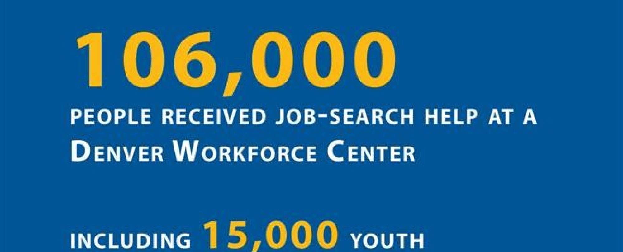 106,000 people received job-search help at a Denver Workforce Center.