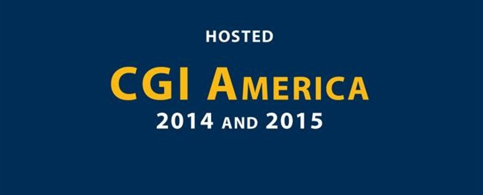 Hosted CGI America 2014 and 2015