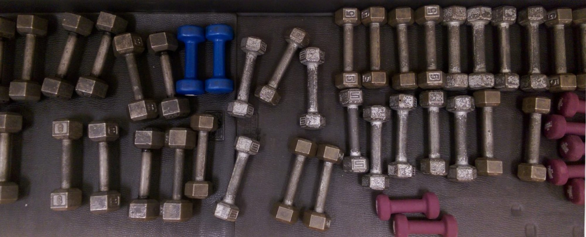 photo of free weights on floor