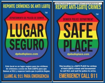 Safe Place Logo English and Spanish