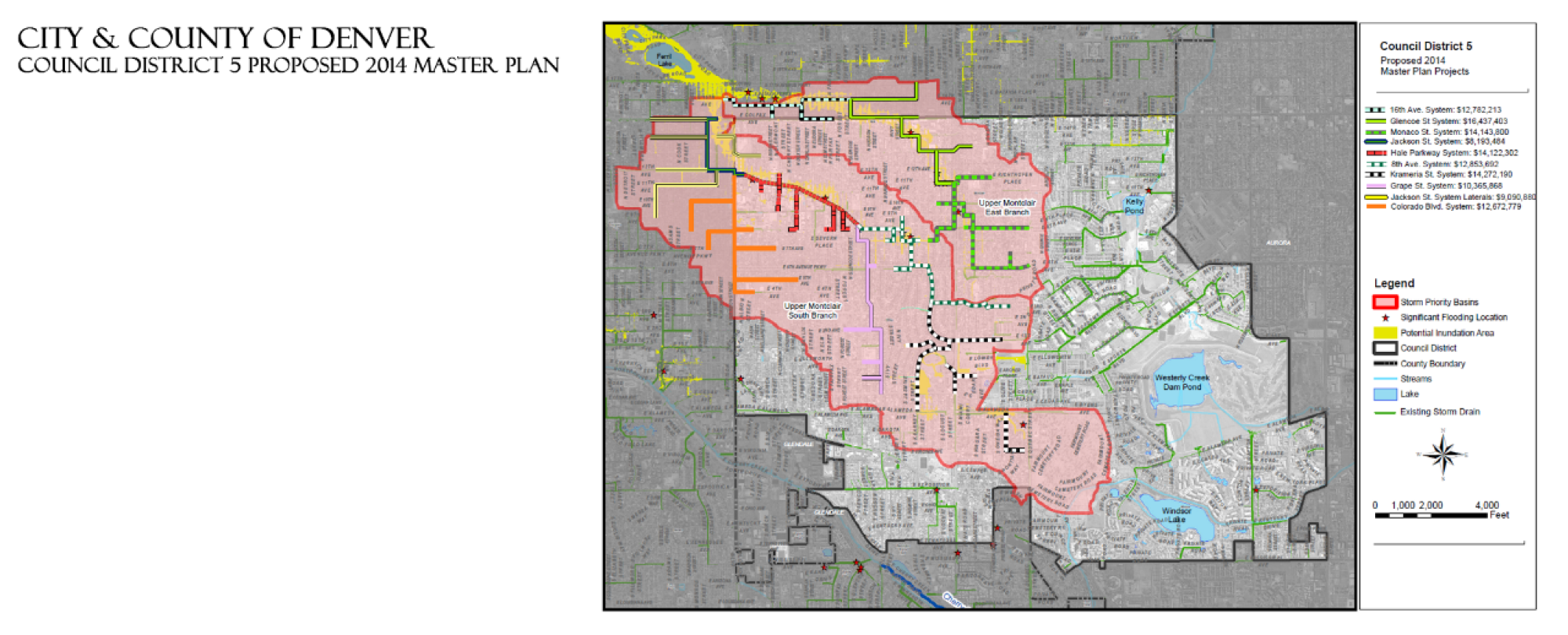map of council district 5 proposed master plan area
