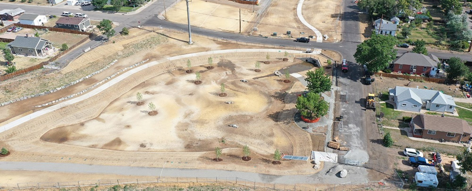 Overhead photo of Platte Farm Open Space project