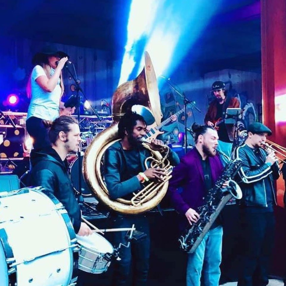 Photo of Denver's Brothers of Brass band playing a live event