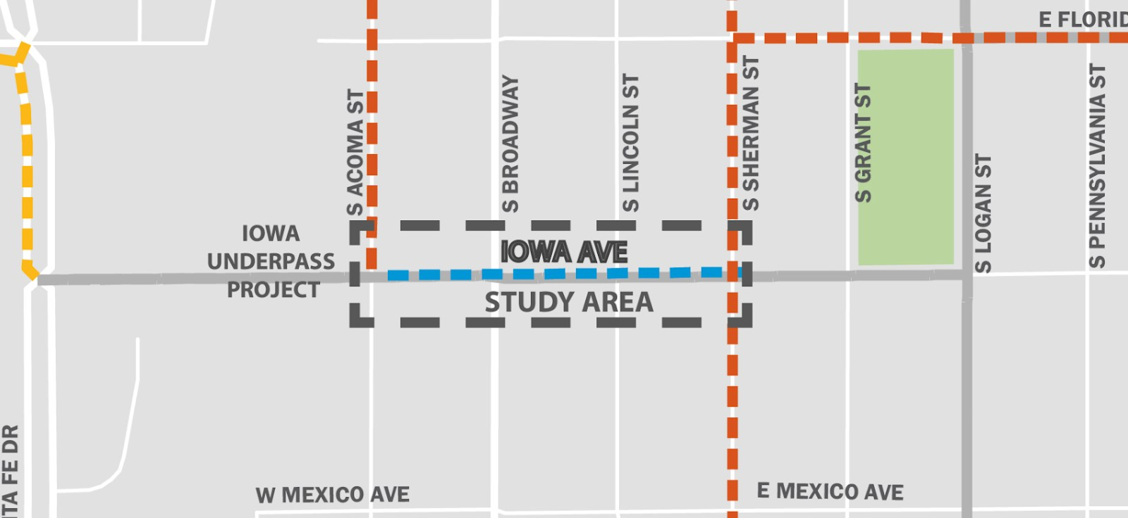 Iowa Avenue Study Area - South Central Community Transportation Network