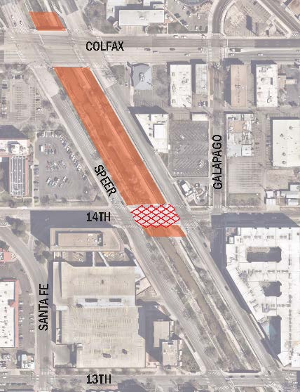 14th Avenue Bridge over Cherry Creek project extent