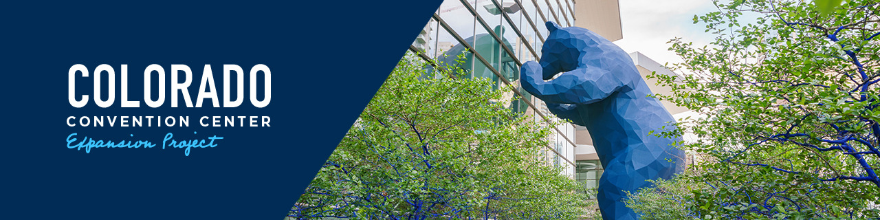 Colorado Convention Center Expansion project web banner