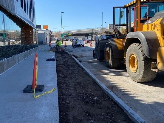 Crews laying subgrade on east side of South Broadway