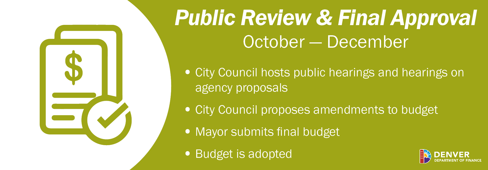 Q4 Budget Process - Oct. through Dec. - Council Review and Budget Adoption