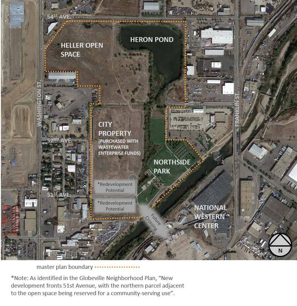 Master Plan boundaries for Heron Pond, Heller Open Space and Carpio-Sanguinette Park