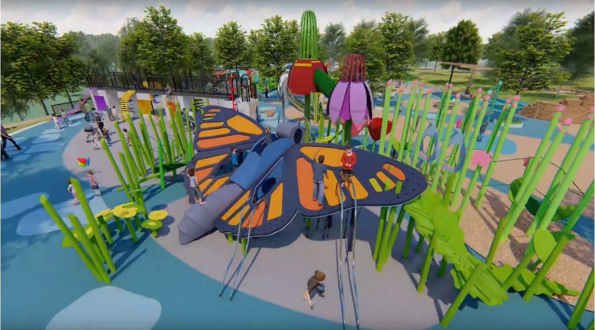 Rendering of playground at Heron Pond