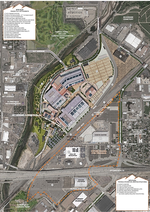 Site Plan of the National Western Center Triangle Project