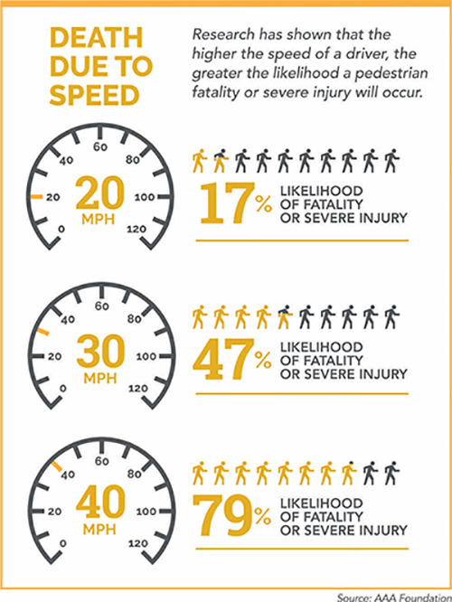 Death Due to Speed Infographic