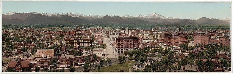 A panoramic view of Denver, Colorado from 1898, courtesy of Wikipedia